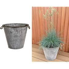 tin plant flower planter pot