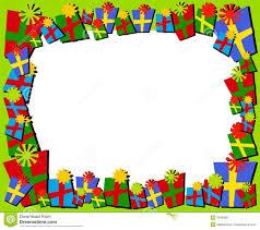 christmas present borders and frames. Simple And Cartoonish Christmas Gifts Border Or Frame And Present Borders Frames