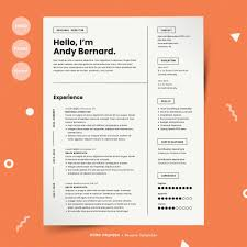 Modern Resume Sheet Modern Resume Template Cv Sheet References Letter Files