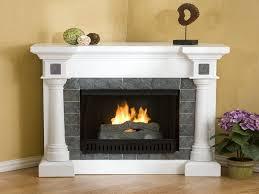 electric fireplace mantel corner