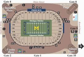 Michigan Stadium Seating Map Michigan Vs Wisconsin Football