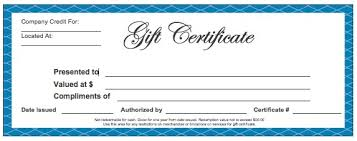 gift certificate for business gift certificate template pdf free business gift certificate inside