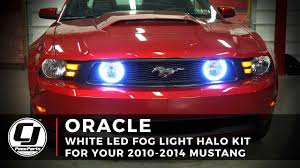 Red Halo Lights For Mustang 2010 2014 Ford Mustang Install Oracle Lighting Led Fog Light Halo Kit
