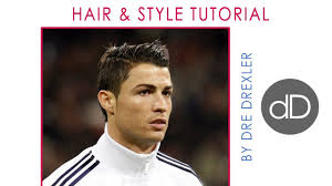 Christiano Ronaldo Hair Style cristiano ronaldo hair tutorial & style by dre drexler youtube 1159 by wearticles.com