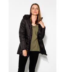 black ashton long puffer jacket