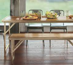 wood metal dining table. Fetching Dining Room Furniture With Bench Ideas : Astounding Image Of Decoration Using White Wood Metal Table I