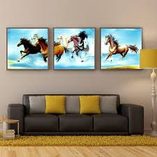 3 panel hot pentium horse modern wall oil painting home decorative art picture paint on canvas prints no frame frame house frame for oil painting oil