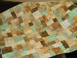 The 25+ best Handmade quilts for sale ideas on Pinterest ... & Handmade Quilts for Sale, Modern Batik Lap Quilt in Shades of Aqua Blue  Green Gold and Brown, Quilted Sofa Throw, Bed Coverlet, Homemade by  SusiQuilts on ... Adamdwight.com