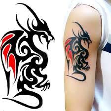 Malovaný Drak Vodotěsné Dočasné Odnímatelné Tetování Těla Rameno Leg Art Sticker At Vova