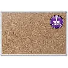 Cork Bulletin Board Mead Cork Bulletin Board 24 X 18 Silver Aluminum Frame Walmartcom