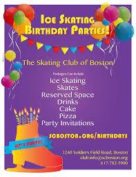 Birthday Parties The Skating Club Of Boston