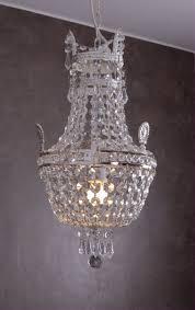 Vintage Korblüster Deckenlampe Kronleuchter Kristall Lüster Shabby