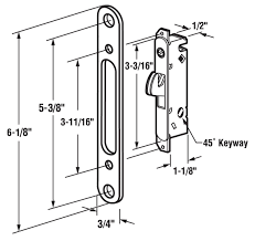 3 of 4 veranda sliding glass patio door handle pull set available with mortise lock