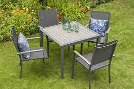 milano 4 seat dining set sling