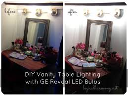 Magnificent Diy Makeup Vanity Lights Best Ideas Homevil Images Of At Style  With Lights ...