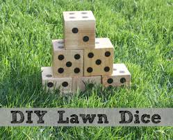 Wooden Yard Games DIY Wooden Yard Dice Sometimes Homemade 58