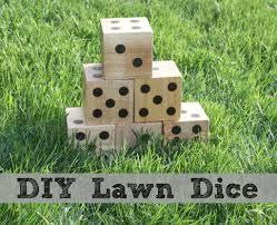 diy wooden lawn dice
