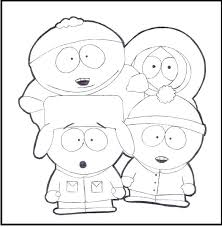 South Park Coloring Page South Park Colouring Pages To Print
