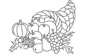 Cornucopia Coloring Pages Page 3 Of 4 Super Coloring Page