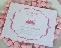 princess party invitations info