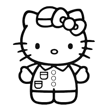 Nurse Hello Kitty Coloring Pages