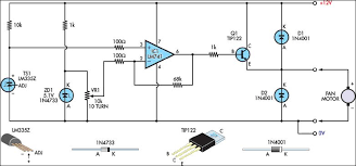 junk box fan speed controller circuit diagram