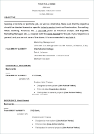 Ms Word Resume Format Free Resume Template Word Resume Format ...