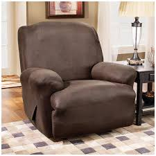 office recliners. amazoncom sure fit stretch leather 1piece recliner slipcover brown sf37162 home u0026 kitchen office recliners r