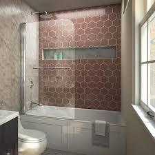 dreamline aqua swing 34 in w x 58 in h frameless bathtub door