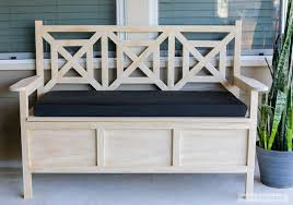 innovative outdoor storage ottoman bench with how to build a diy outdoor storage bench