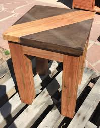 concrete and wood furniture. Walnut Brown Concrete Table Top With Wood Inlay. Is 1.5\ And Furniture O