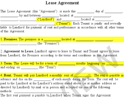 lease contract template lease agreement create a free rental agreement form