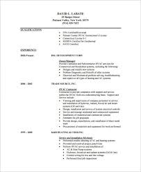 Hvac Resume Template Magnificent 28 HVAC Resume Templates DOC PDF Free Premium Templates