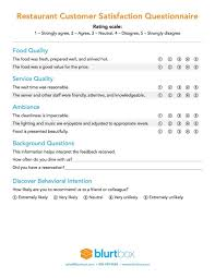 customer service satisfaction survey examples customer satisfaction survey template for restaurant owners