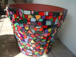 preparing terra cotta pots for mosaic duck egg blue flower pot rachel evans mosaics orig text