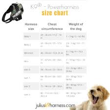 Julius K9 Harness Size Chart Juliusk9harnesscom