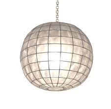 18 dia capiz shell pendant globe