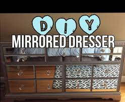 how to make mirrored furniture.  Make DIY MIRRORED DRESSER For A Fraction Of Retail With How To Make Mirrored Furniture