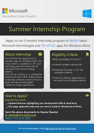 Microsoft Internship Apply Summer Internship Program At Microsoft Innovation Center