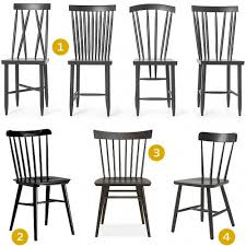 black spindle back chairs like these family