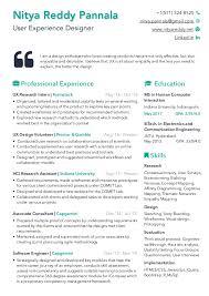 User Experience Designer Resume Stunning UXD Resume