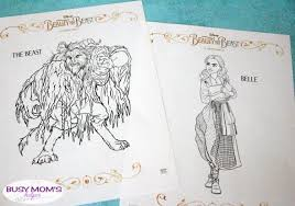 Small Picture Beauty The Beast Coloring Pages Busy Moms Helper