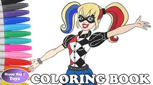 Small Picture DC Super Hero Girls Harley Quinn Coloring Book Pages DC Superhero