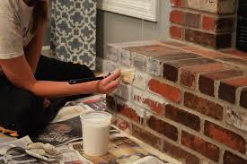 how to whitewash brick fireplace whitewashing brick fireplace