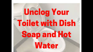 How To Unclog A Toilet With Dish Soap And Hot Water Youtube