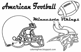 Minnesota Vikings Clipart American Football Gridiron Coloring Pages