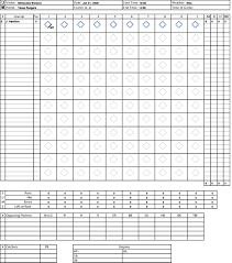 Baseball Game Scorecard Baseball Scorecard
