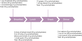 Diabetes Sample Menus Sample Meal Plan For Diabetes Patients To Control The Intake Of