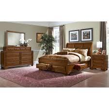 Sanibelle 6 Piece King Storage Bedroom Set Pine Value City