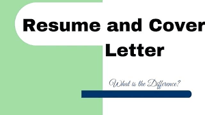 Resume Cover Letter Content Difference Between Resume And Cover